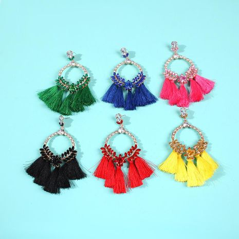 New Tassel Earrings Bohemia Creative Earrings Woven Vintage Style Diamond Earrings NHMD190136's discount tags