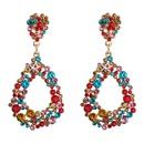 European and American big dropshaped alloy diamond long earrings female temperament earrings bohemian earrings factory direct sales NHLN190177