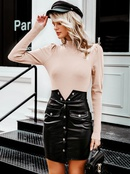 2019 new solid color sweater fashion women39s wholesale NHDE190184