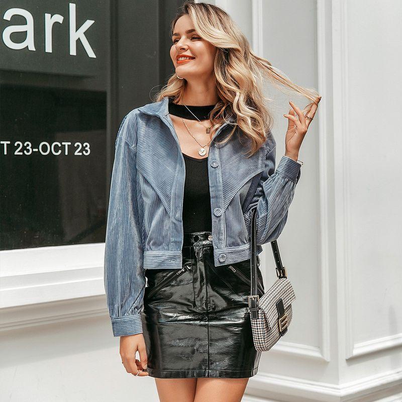 2019 new denim short coat fashion women's wholesale NHDE190188