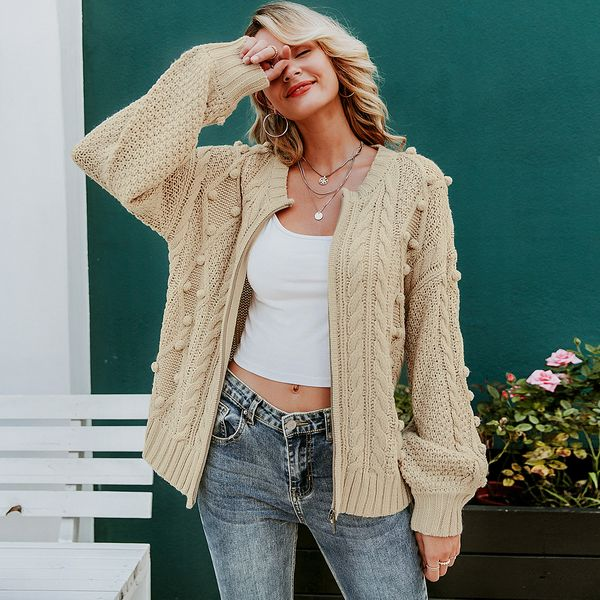 2019 new simple coat sweater fashion women's wholesale NHDE190191
