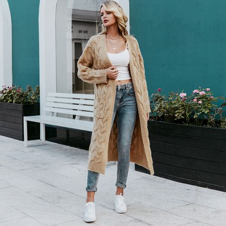 2019 new coat sweater long fashion women's wholesale NHDE190211's discount tags