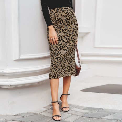 2019 new sexy leopard skirt fashion women's wholesale NHDE190212's discount tags
