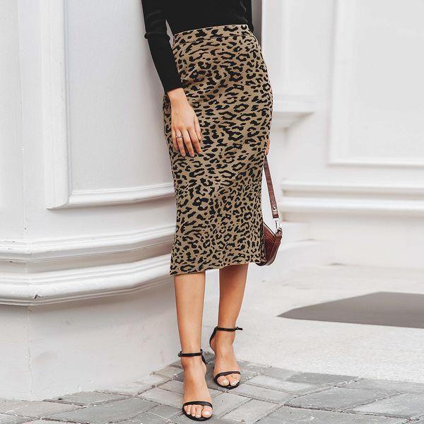 2019 new sexy leopard skirt fashion women's wholesale NHDE190212