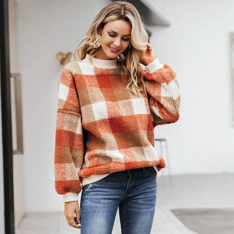 2019 New Sweet Plaid Jacket Fashion Women Wholesale NHDE190215's discount tags
