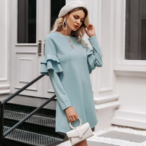 2019 New Light Blue Skirt Fashion Women Wholesale NHDE190217's discount tags