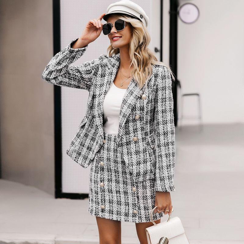 2019 New Elegant Plaid Skirt Fashion Women Wholesale NHDE190221