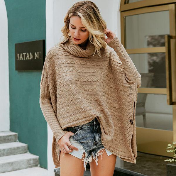 2019 new turtleneck fashion women's clothing wholesale NHDE190226