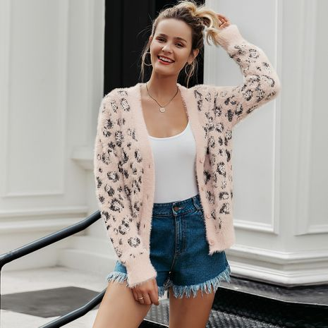 2019 New Leopard Sexy Sweater Fashion Women Wholesale NHDE190227's discount tags