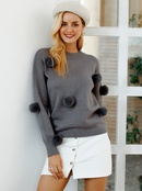 2019 new wide sweater with black fur ball fashion women39s wholesale NHDE190229