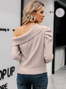 2019 new sexy strapless sweater fashion women39s wholesale NHDE190230
