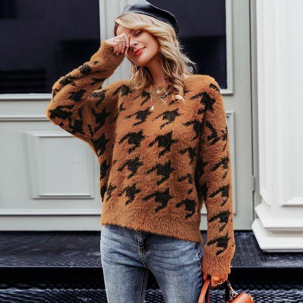 2019 new sexy pattern sweater fashion women's wholesale NHDE190236