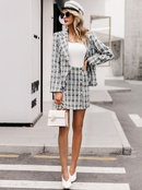2019 New Temperament Plaid Jacket Fashion Women Wholesale NHDE190239