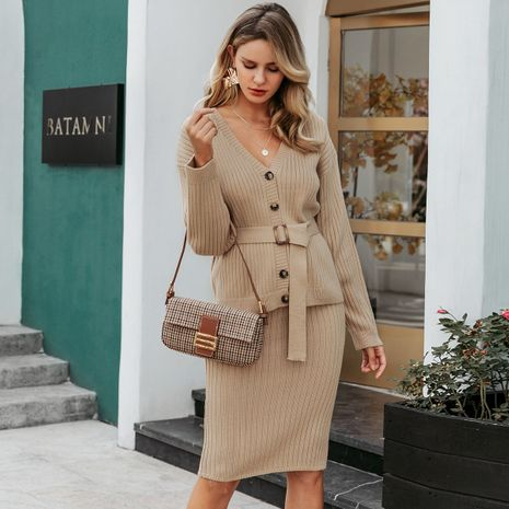 2019 new button skirt fashion women's wholesale NHDE190245's discount tags