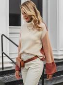 2019 new sleeve stitching sweater fashion women39s wholesale NHDE190248
