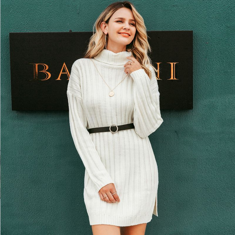 2019 new elegant solid color skirt fashion women's wholesale NHDE190261