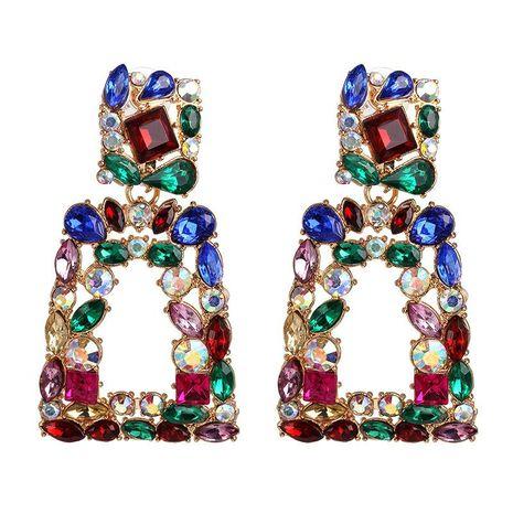 Diamante geométrico aretes de diamantes completos pendientes de tachuela retro joyería de oreja NHJJ190262's discount tags