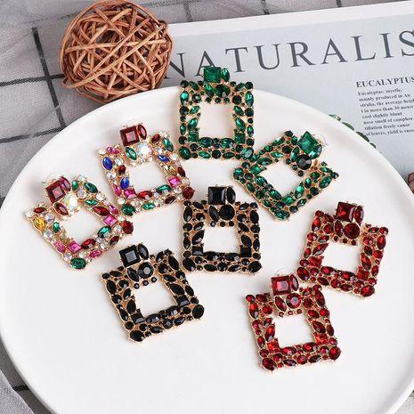Diamante geométrico aretes de diamantes completos pendientes de tachuela retro joyería de oreja NHJJ190263's discount tags