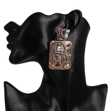 Aretes de diamantes para mujer con aretes de metal geométricos retro NHJJ190265's discount tags