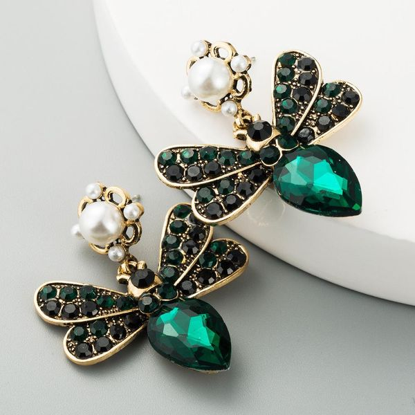 Cross-border exclusively for European and American big brands selling bohemian new butterfly inlaid colorful rhinestone multi-layer retro earrings NHLN190283