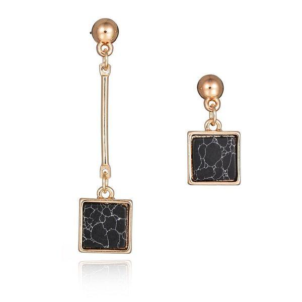 Fashion square asymmetric earrings long tassel earrings jewelry wholesale NHBQ190306