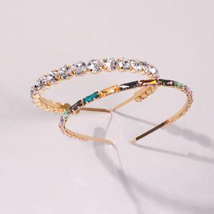 Hair band glass diamond thin-edged hair accessory fashion headband NHMD190322's discount tags
