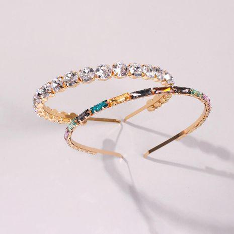 Diadema de cristal de diamantes con banda fina para el pelo accesorio para el cabello diadema de moda NHMD190322's discount tags