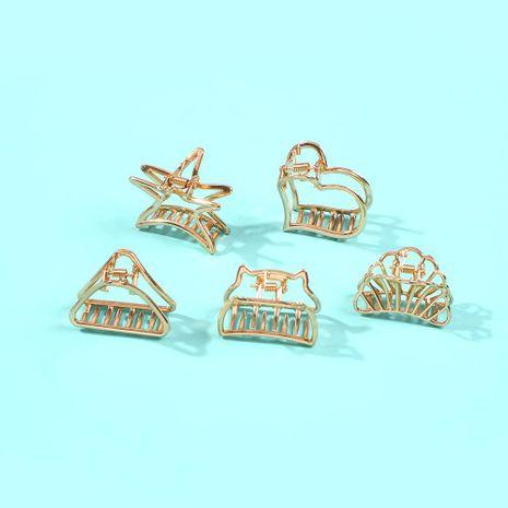 Nuevo peine para el cabello peine pequeño y lindo pinzas para el cabello accesorios para el cabello pinza para el cabello hueca de metal medio NHMD190327's discount tags