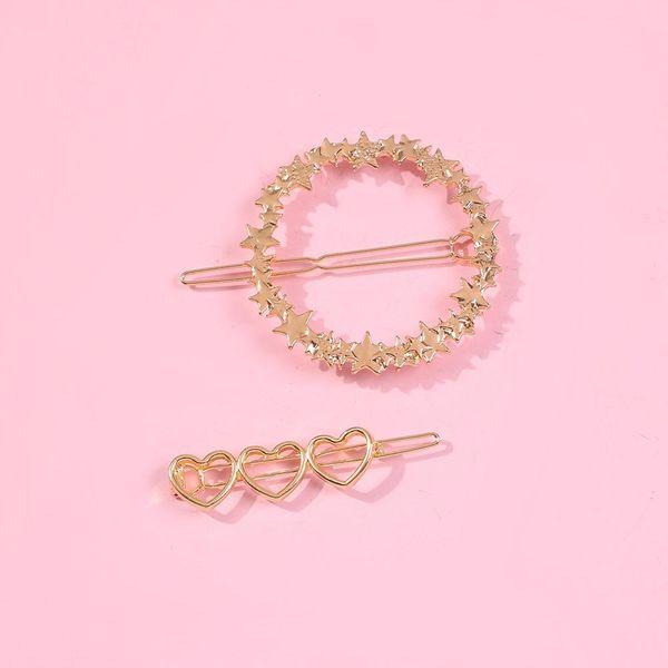 Hair clip classic fashion word clip girl sweet combination hair accessories NHMD190335