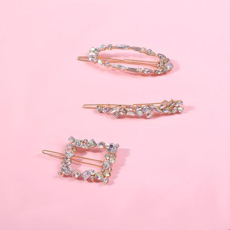Hair clip fashion word clip geometric irregular diamond hair accessories NHMD190338's discount tags