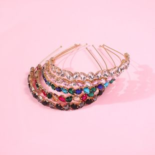 Hair band female glass brick thin-edged hair accessories hair clip headband new trend jewelry NHMD190342's discount tags