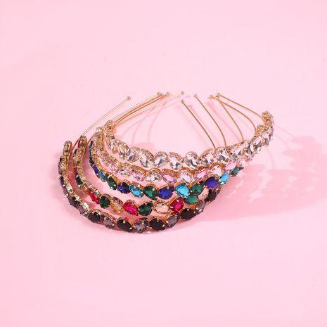 Banda para el cabello mujer ladrillo de vidrio de filo fino accesorios para el cabello pinza para el cabello diadema nueva tendencia joyería NHMD190342's discount tags