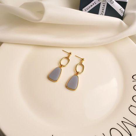 Pendientes simples con esmaltes de gota Pendientes femeninos de moda para niñas nuevos NHWF190359's discount tags