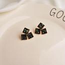 Black Geometric Earrings Female Temperament Fritillaria Korean Personality Earrings 2020 New Trend Ins Net Red Wild Earrings NHWF190393