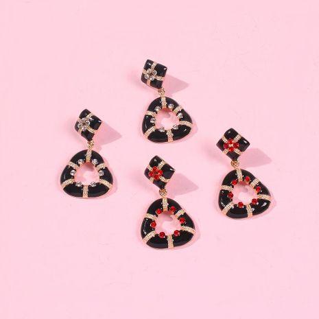 Pendientes colgantes de aceite de aleación Pendientes geométricos barrocos Pendientes de diamantes vintage NHMD190427's discount tags