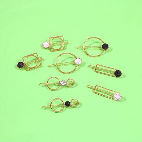 Accesorios para el cabello accesorios para el cabello simples e irregulares traje de horquilla de resina geométrica para mujeres NHMD190428's discount tags