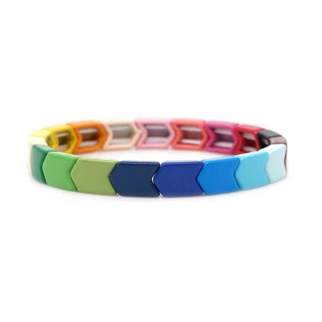 Nuevo Color Mashup Pulsera Aleación de zinc Pintura que preserva el color Pulseras para hombres y mujeres NHGW190437's discount tags