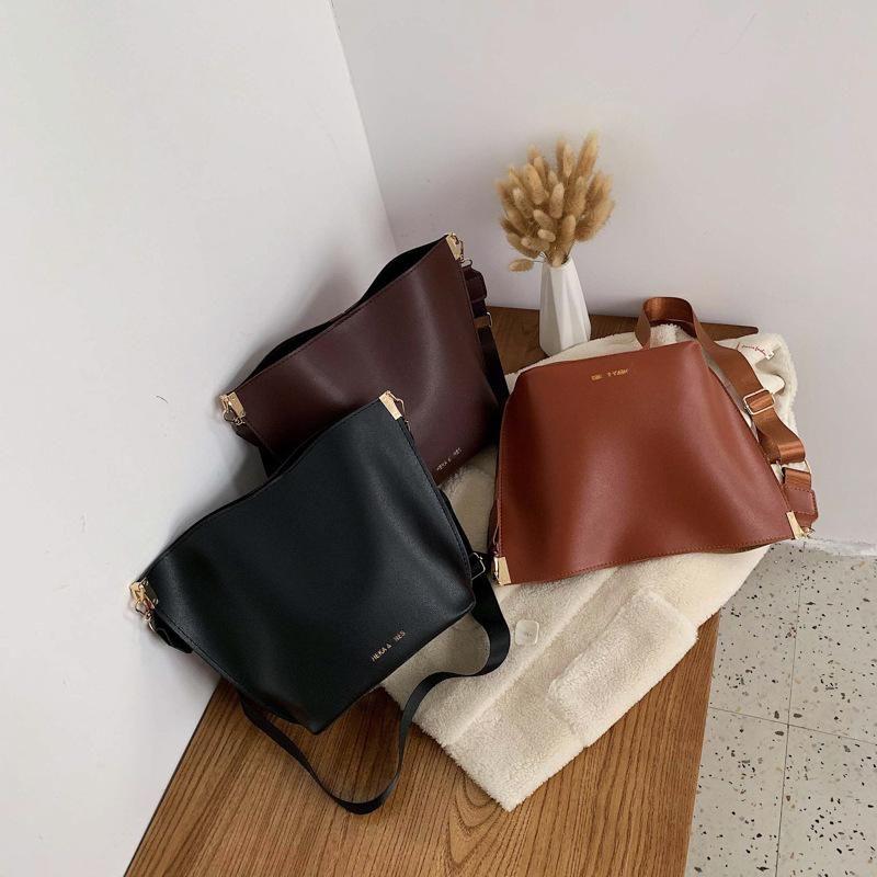 Women's Bags New Fashion Retro Bucket Bags Crossbody Bags Large Capacity Shoulder Bags NHXC190459