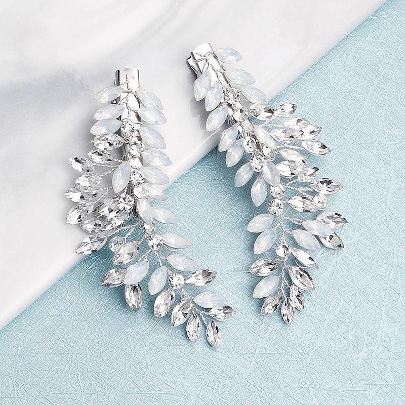 Explosion style hair clip handmade diamond edge clip bride wedding dress with jewelry NHHS183594