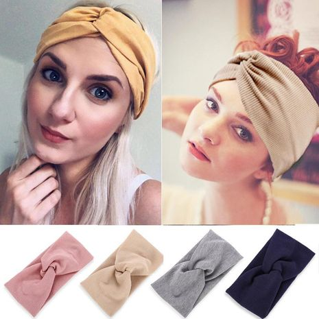 Bandeau Fil Coton Cross Hair Band Yoga Bandeau Lady NHPJ183986's discount tags