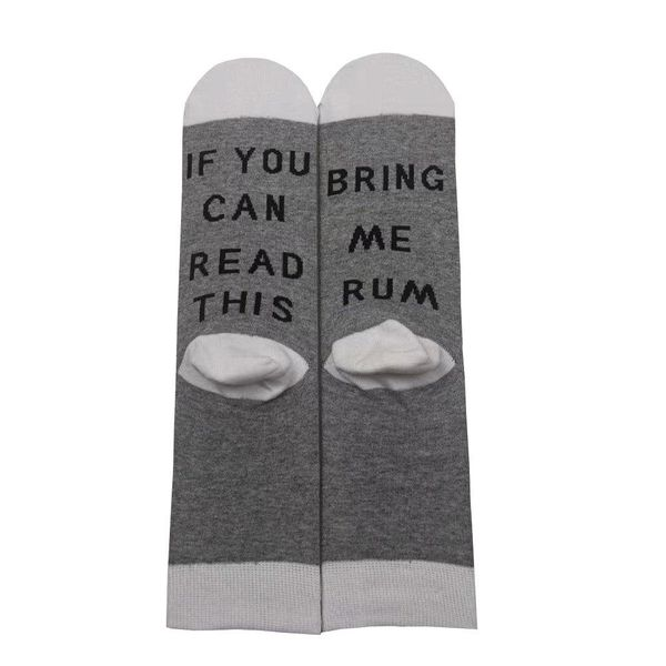 Best selling rum letters cotton socks wholesales fashion NHYU180164