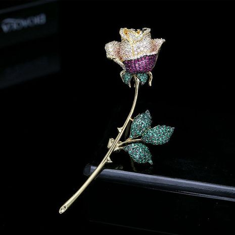 Rose brooch corsage upscale female elegant accessories sweater pin NHDO184010's discount tags
