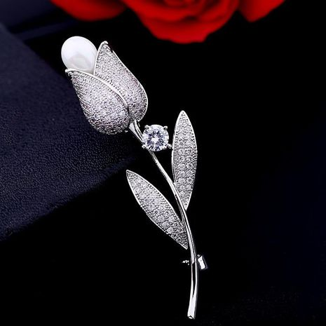 Women's boutonniere fashion rose pearl lady brooch sweater suit accessories NHDO184020's discount tags