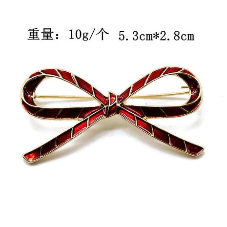 Red hollow bow brooch simple personality wild brooch fashion brooch NHOM183904's discount tags
