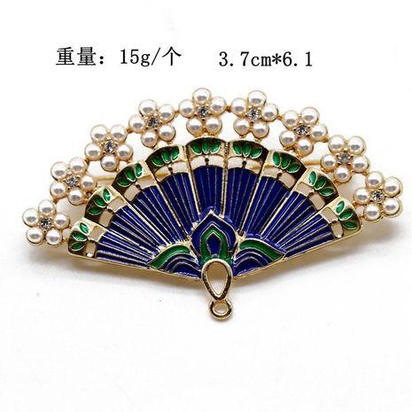 Dark blue dripping oil pin brooch retro atmospheric pin brooch NHOM183905's discount tags