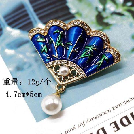 Vintage dripping oil pearl pendant brooch pin Meran vintage elegant pin NHOM183906's discount tags