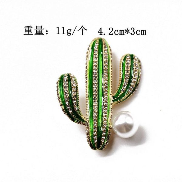 Irregular plant brooch noble temperament green enamel brooch NHOM183909