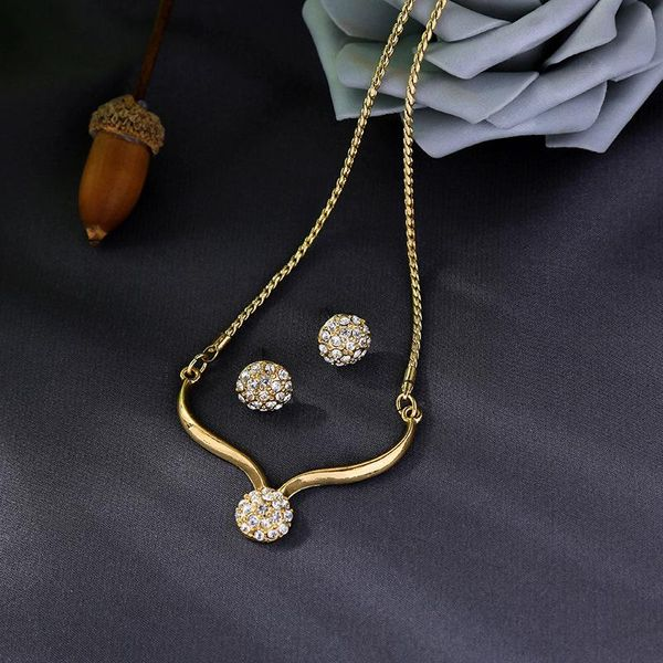 Creative simple geometric diamond necklace female temperament long sweater chain set NHQD183873