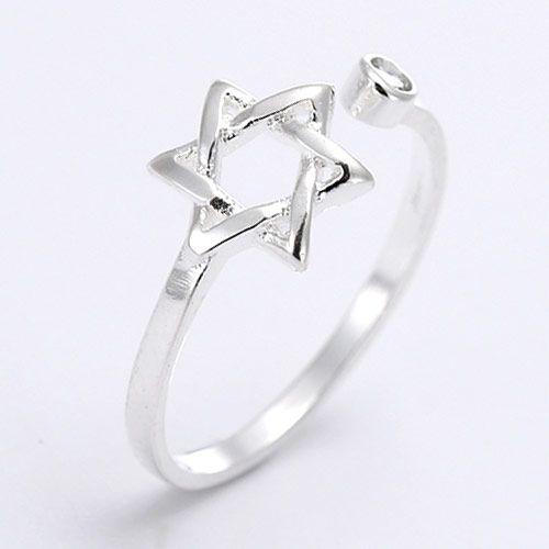 Fashion Sweet OL Knit Pentagram Personality Open Ring NHSC184059