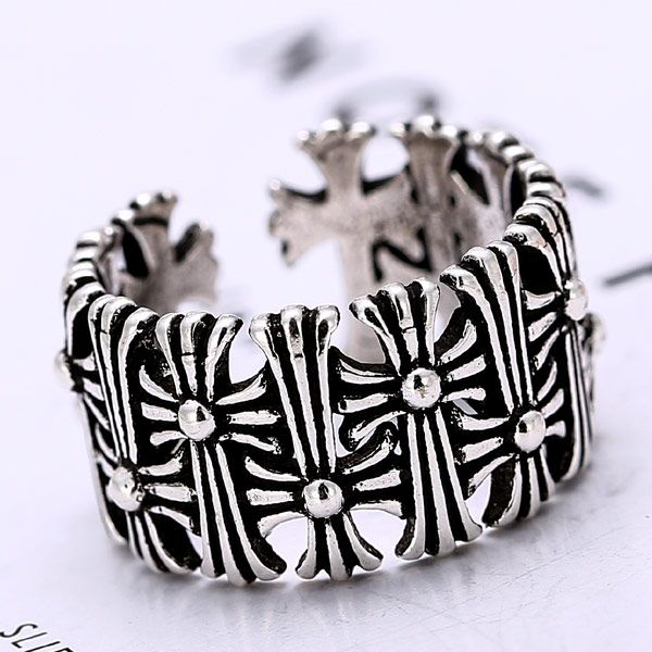 European and American fashion retro cross temperament personality open ring NHSC184070